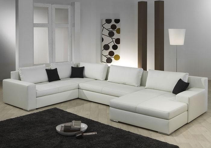 Schlafcouch weiß  Wohnlandschaft Hiromi 378x240/170cm weiß Couch Sofa Ecksofa ...
